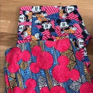 2 pair lularoe Disney TC leggings